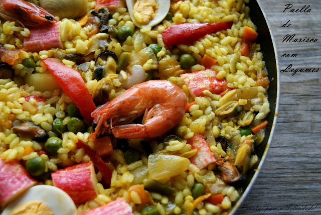 Seafood and Vegetable Paella Recipe