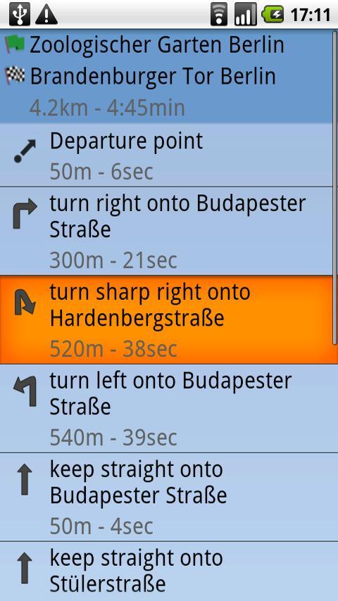 TravelDroyd - screenshot