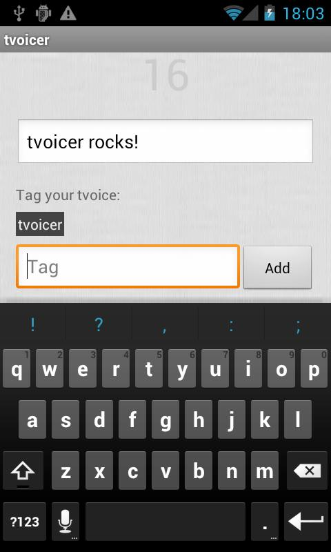 tvoicer - screenshot