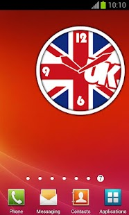 UK Flag Clock + Alarm | London - screenshot thumbnail