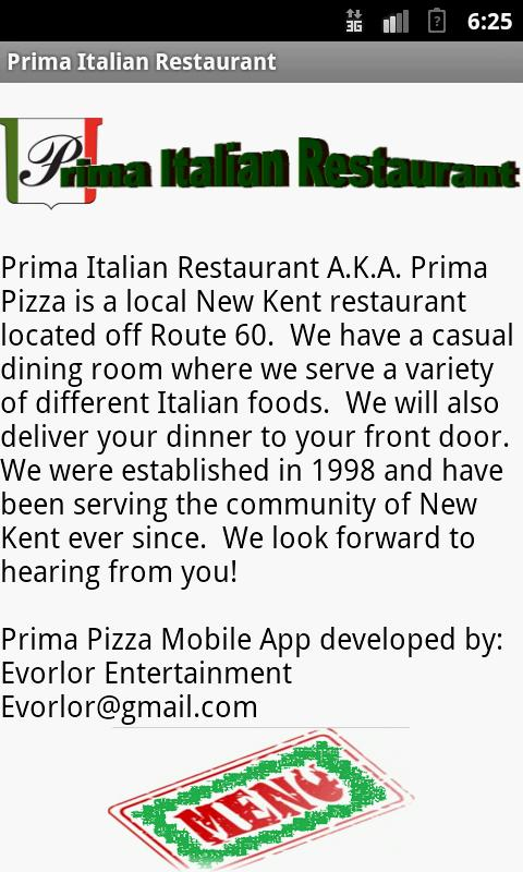 Prima Pizza - screenshot