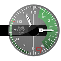 FIGHTER. Army analog clock icon