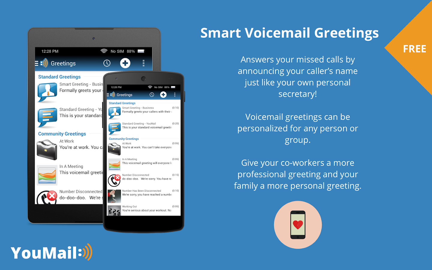 Visual Voicemail- screenshot