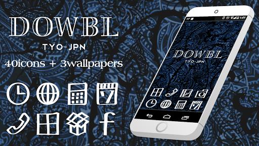 アイコンきせかえ-ダブル(DOWBL -ペイズリー壁紙付!