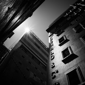 Urban sunlight by Eliza Jane - Black & White Buildings & Architecture ( shoes, blackandwhite, urban, black and white, melbourne, buildings, sunlight, city )