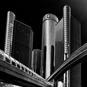 Detroit RenCen by Robert Gallucci - Buildings & Architecture Architectural Detail
