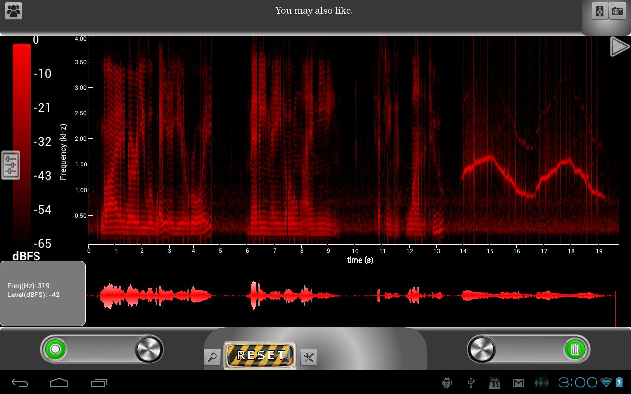 ProSpec Lite Spectrum Analyzer- screenshot