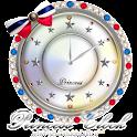 キラキラ☆姫系アナログ時計ウィジェットDマリンカラー icon