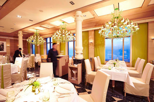 Well lit and elegant, Serenissima on Europa 2 specializes in Italian cuisine.