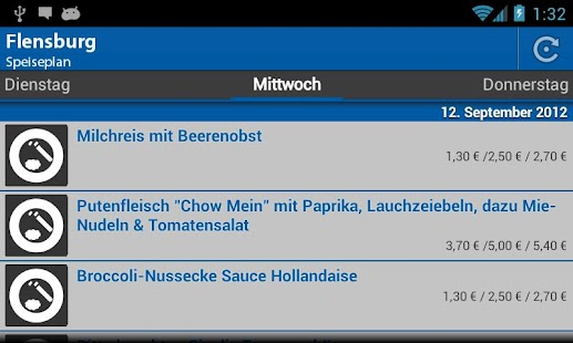 Mensa Flensburg - screenshot thumbnail