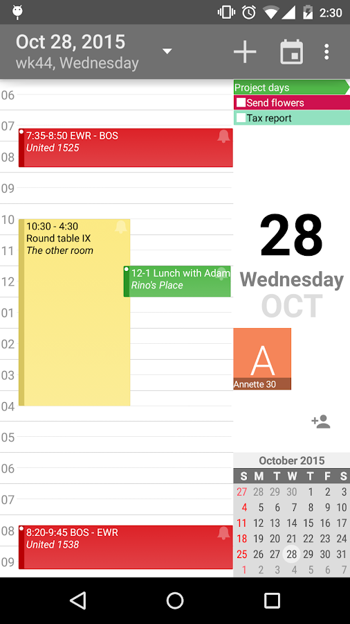 aCalendar+ Calendar & Tasks- screenshot