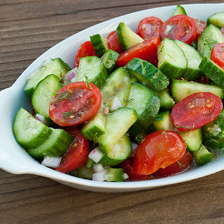 Cucumber and Tomato Salad.