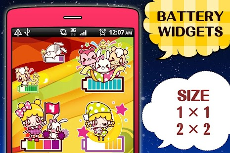 Kawaii Battery Widget - náhled
