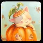 Pumpkin Kitten Live Wallpaper icon