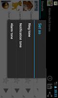 Screenshot of Alarm clock tones