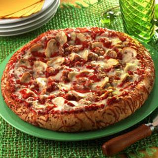 Mushroom Sausage Pizza