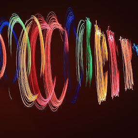 Light Painting using Christmas Light by Mili Shrivastava - Abstract Light Painting (  )