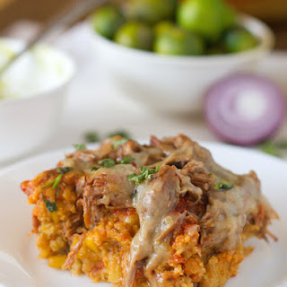 Carnitas Tamale Pie.
