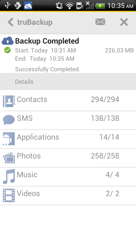 truBackup - Mobile Backup - screenshot