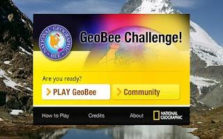 Screenshot of GeoBee Challenge