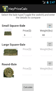 Hay Price Calc- screenshot thumbnail
