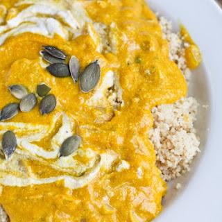 Creamy Pumpkin Soup with Couscous