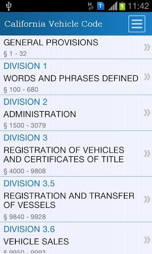California Vehicle Code