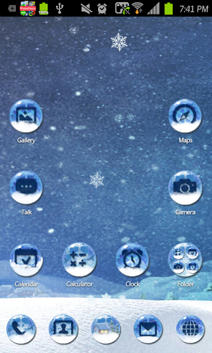 At a Glance go launcher theme