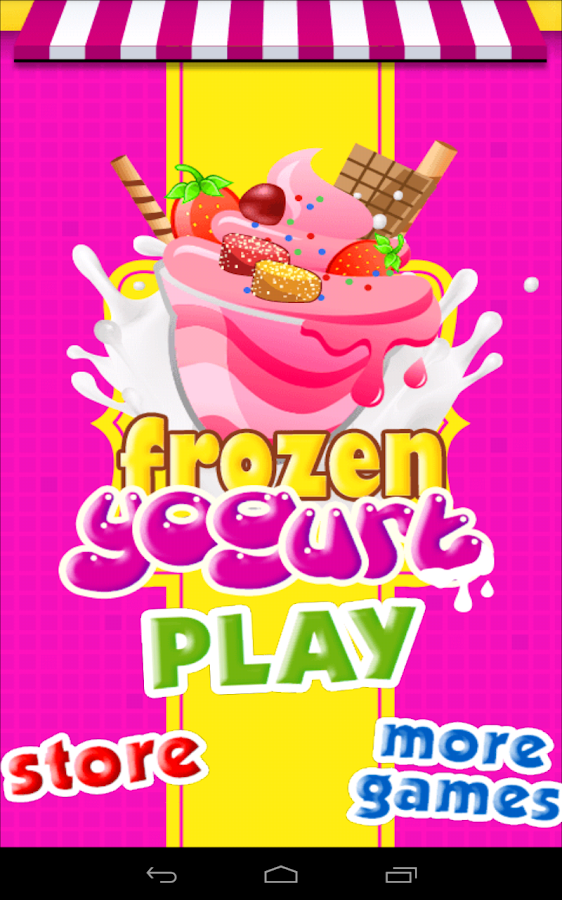 Frozen Yogurt Maker -Kids Game - screenshot