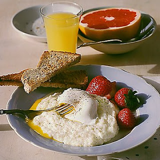 Poached Egg over Grits