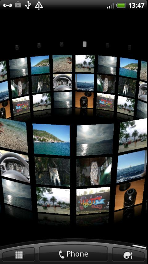 3D Photo Wall Live Wallpaper - screenshot