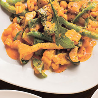 Summer Vegetable Ragout with Exotic Curry Sauce.