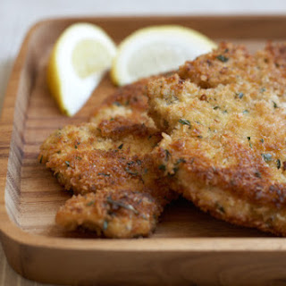 Herbed Chicken Cutlets with Panko and Parmesan.