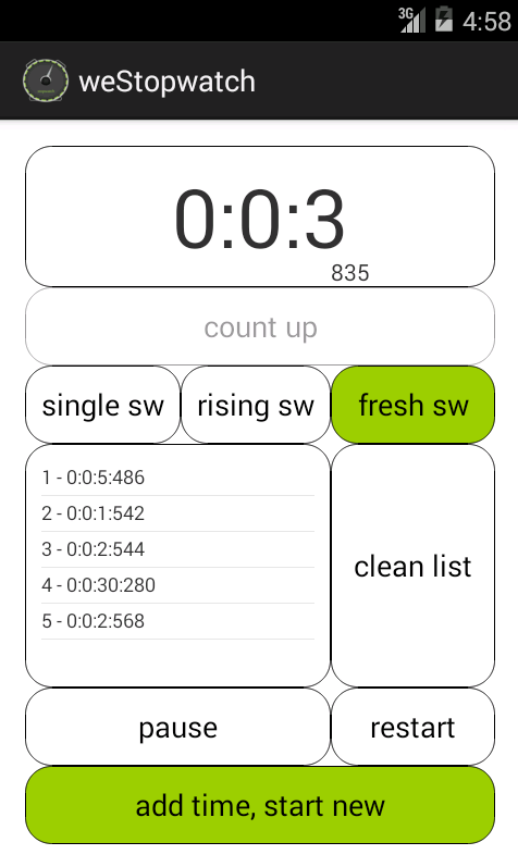 Stopwatch and Timer - screenshot