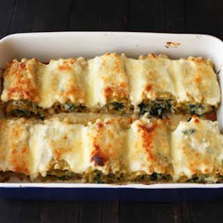 Spinach Artichoke Lasagna Roll Ups.