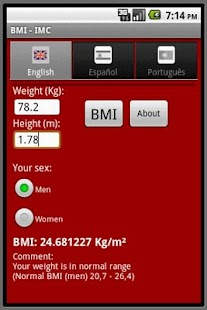 BMI- screenshot thumbnail