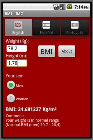 BMI- screenshot