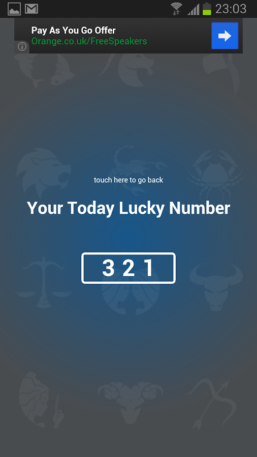 Today Lucky Number - screenshot
