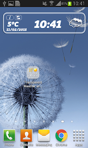 Transparent Weather And Clock screenshot 2