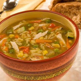 Chicken Rice Vegetable Soup.