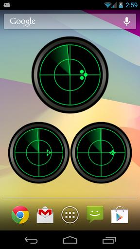 Radar Analog Clock Widget