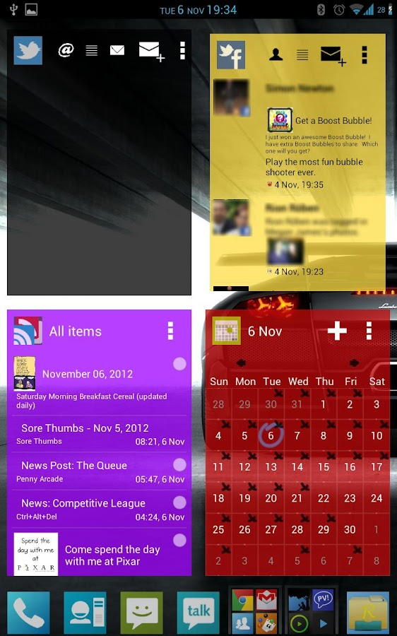 APW Theme 192 ICS/JB Blue - screenshot