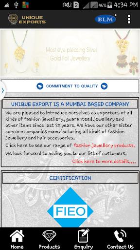 Unique Exports App