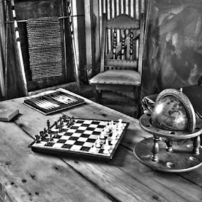 Board games  by Stephen Fouche - Black & White Objects & Still Life