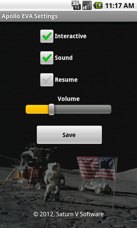 Apollo On The Moon LWP- screenshot