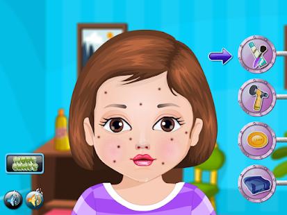 青春痘的治療女孩子的遊戲