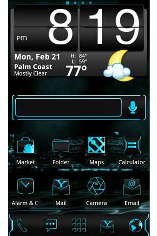 ADW Theme: Tron Legacy - screenshot