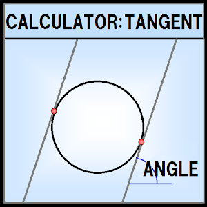 Circle tangent calculation