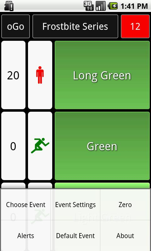 oGo Orienteering Start Timer - screenshot