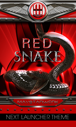 Next Launcher Theme red snake